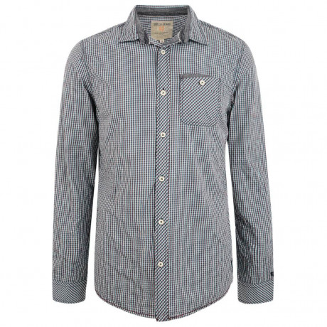 Garcia Jeans Long Sleeve Check Shirt Marine Blue Image