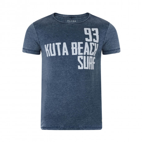 Blend Kuta Surf Beach Summer Print T-shirt Blue Image
