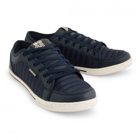 Crosshatch Quilted Trainers Blue Shoes Image