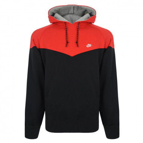 Nike Hooded Sweatshirt Hoodie Black Red Image