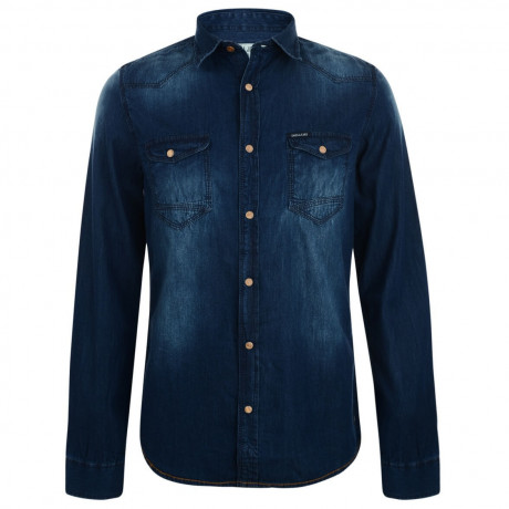 Garcia Jeans Fashion Denim Shirt Indigo Blue Image