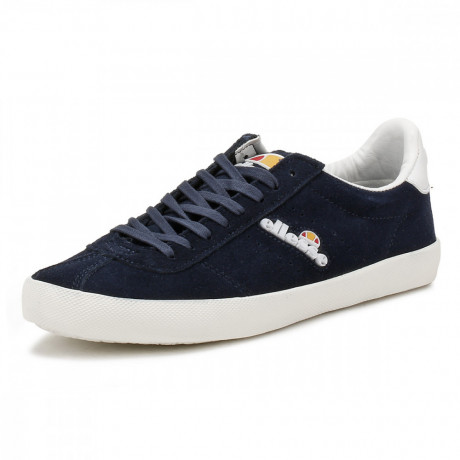 Ellesse Men's Avellino Vulc Suede Leather Low Shoes Trainers Navy | Jean Scene