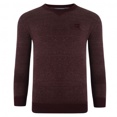 Crosshatch Crew Neck Acrylic Backsands Jumper Andorra | Jean Scene