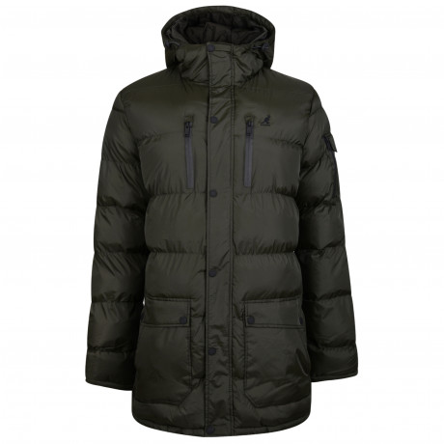 Kangol Puffer Padded Jacket Khaki | Jean Scene