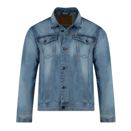 Lee Cooper Berden Denim Jacket Light Wash Blue | Jean Scene