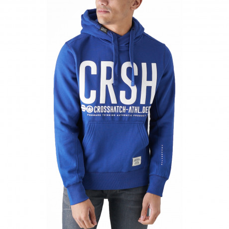 Crosshatch Overhead Men's Birchtree Hoodie Sodalite Blue | Jean Scene