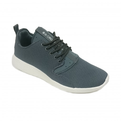 Crosshatch Mens Blistering Canvas Shoes Trainers Dark Grey | Jean Scene