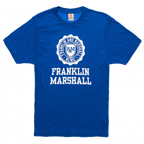 Franklin & Marshall Crew Neck Men's T-Shirt Bluette | Jean Scene
