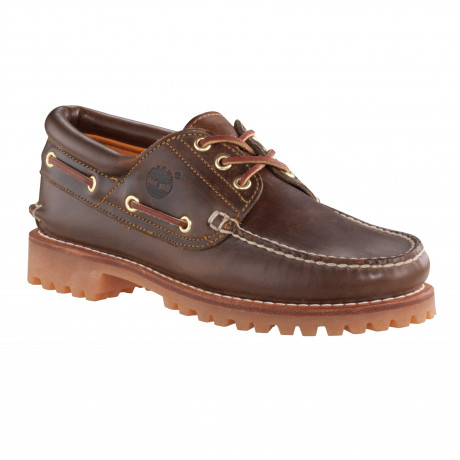 Timberland Mens Classic 3 Eye Leather Boat Shoes Shoes Brown | Jean Scene