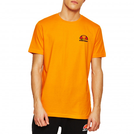 Ellesse Logo T-Shirt Short Sleeve Orange Popsicle | Jean Scene