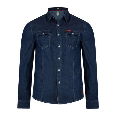 Lee Cooper Men's Long Sleeve Charrisworth Denim Shirt Dark Wash | Jean Scene