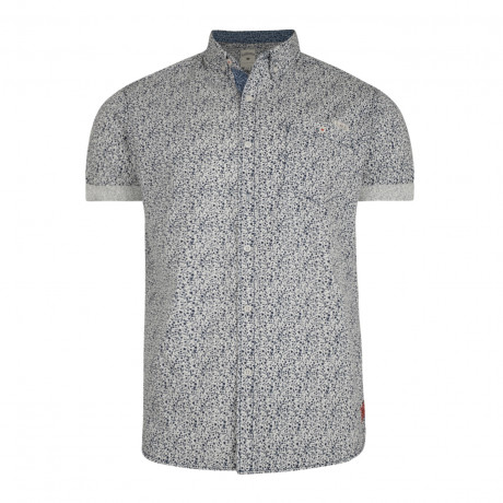 Lee Cooper Chicksand Floral Pattern Shirt Short Sleeve Ecru | Jean Scene