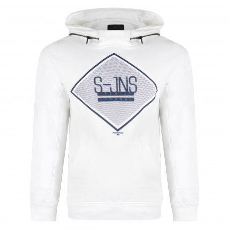 Smith & Jones Men's Cinture Hoodie White | Jean Scene
