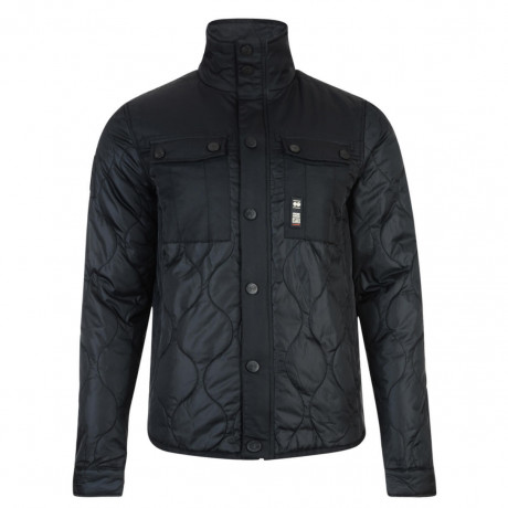Crosshatch Men's Claythorpe Quilted Jacket Black