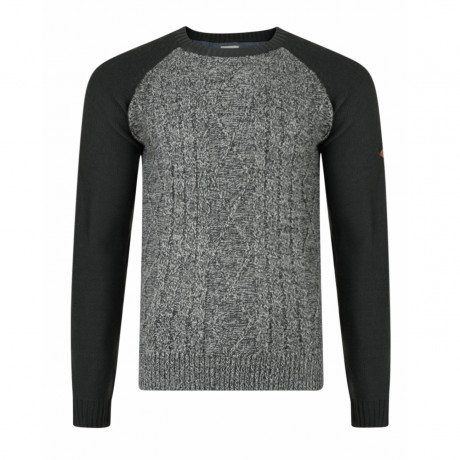 Lee Cooper Combley Crew Neck Acrylic Jumper Grey | Jean Scene