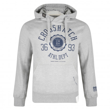 Crosshatch Men's Cravet Hoodie Light Grey | Jean Scene