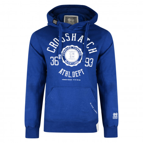 Crosshatch Men's Cravet Hoodie Mazarine Blue | Jean Scene