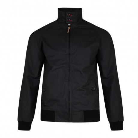 Lee Cooper Men's Cotton Classic Harrington Jacket Black | Jean Scene