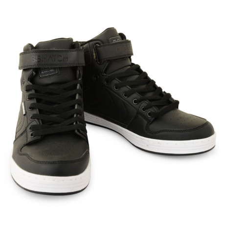 Crosshatch High Top Trainers Bronx Black
