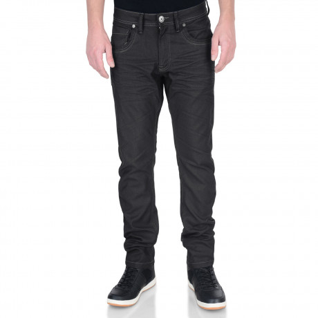 Crosshatch Menzo Slim Stretch Denim Jeans Black Blue | Jean Scene