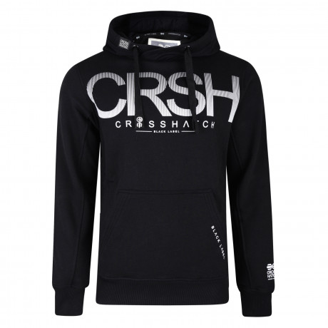 Crosshatch Men's Crusher Hoodie Black | Jean Scene