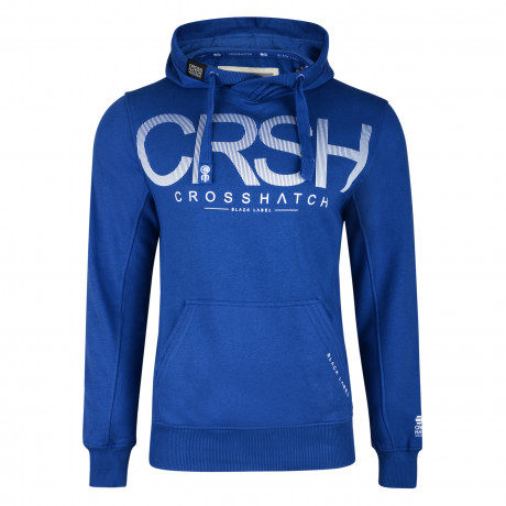 Crosshatch Men's Crusher Hoodie Mazarine Blue | Jean Scene