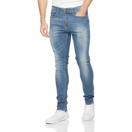 Firetrap Deadly Skinny Stretch Fit Denim Jeans Light Wash | Jean Scene