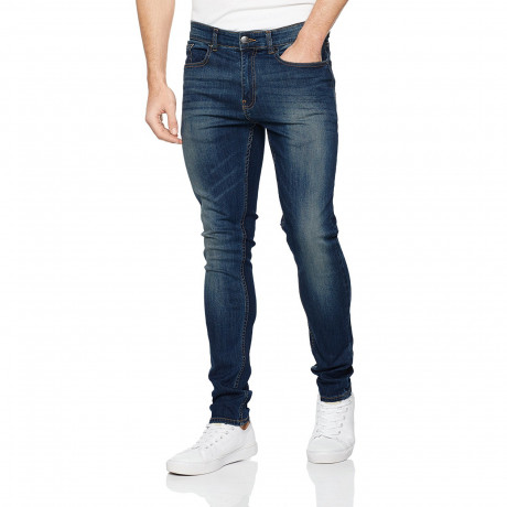 Firetrap Deadly Skinny Stretch Denim Jeans Dark Wash | Jean Scene
