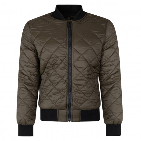 Loyalty & Faith Diamond Quilted Jacket Khaki | Jean Scene