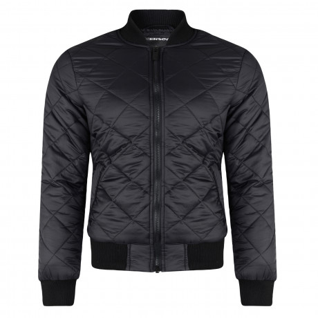 Loyalty & Faith Synthetic Diamond Quilted Leather Jacket Black | Jean Scene