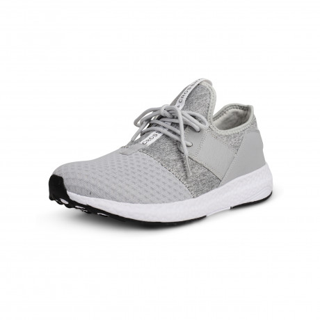 Crosshatch Mens Divergence Canvas Shoes Trainers Grey | Jean Scene