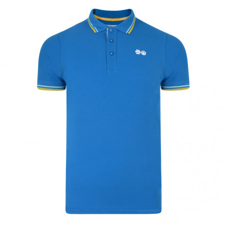 Crosshatch Downtalk Polo Pique T-Shirt Directoire Blue | Jean Scene