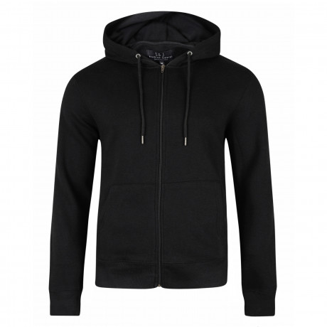Smith & Jones Men's Zip Up Hoodie Black | Jean Scene