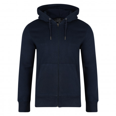 Smith & Jones Fairmile Men's Zip Up Hoodie Navy Blue | Jean Scene