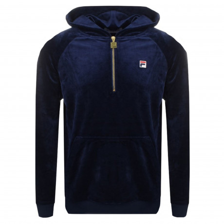 Fila Men's Laurent Velour Half Zip Sweatshirt Peacoat | Jean Scene