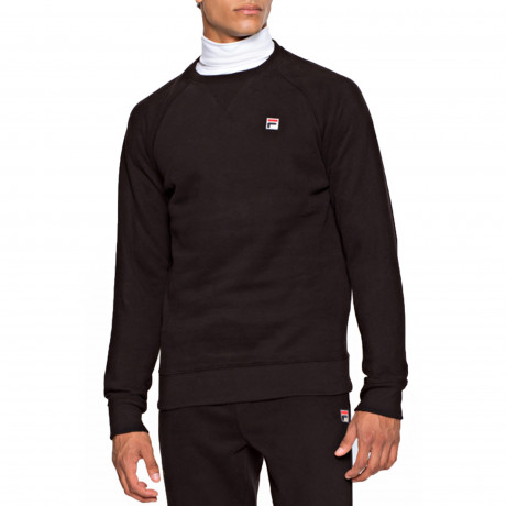 Fila Men's Filippo Logo Crew Neck Sweatshirt Black | Jean Scene