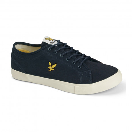 Lyle & Scott Men's Teviot Twill Low Canvas Shoes Shoes New Navy | Jean Scene
