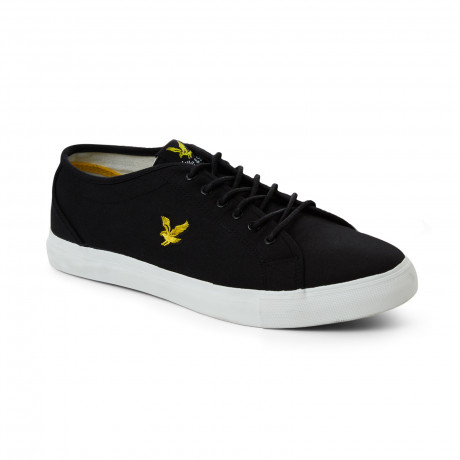 Lyle & Scott Men's Teviot Twill Low Canvas Shoes Shoes True Black | Jean Scene
