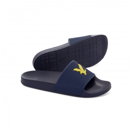Lyle & Scott Men's Thomson Slip On Sliders Sliders Navy | Jean Scene