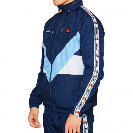 Ellesse Men's Gerano Shell Zip Up Track Top Navy | Jean Scene