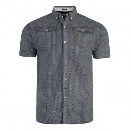 Firetrap Gorst Pattern Shirt Short Sleeve Nine Iron | Jean Scene