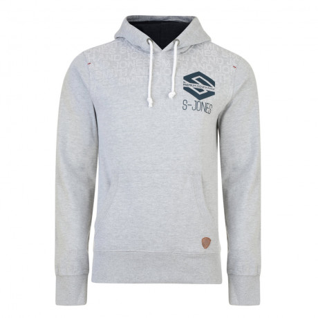 Smith & Jones Hemington Hoodie Grey Marl