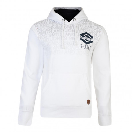 Smith & Jones Hemington Hoodie White