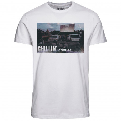 Jack & Jones Originals Crew Neck Hit 2 Print T-shirt White | Jean Scene