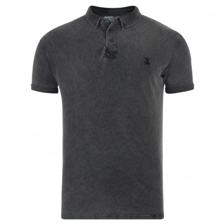 Soul Star Polo Pique T-Shirt Dark Grey Image