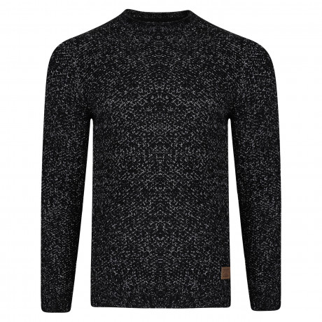 Threadbare Potter Crew Neck Wool Blend Jumper Jet Black | Jean Scene