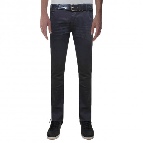 Crosshatch Straight Fit Denim Jeans Jenson Black