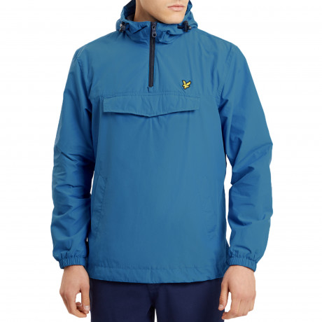 Lyle & Scott Men's Casual Overhead Anorak Jacket Lake Blue | Jean Scene