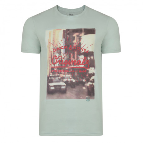 Jack & Jones Originals Crew Neck S2 Print T-shirt Surf Spray | Jean Scene