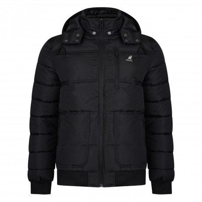 Kangol Winter Padded Jacket Black | Jean Scene